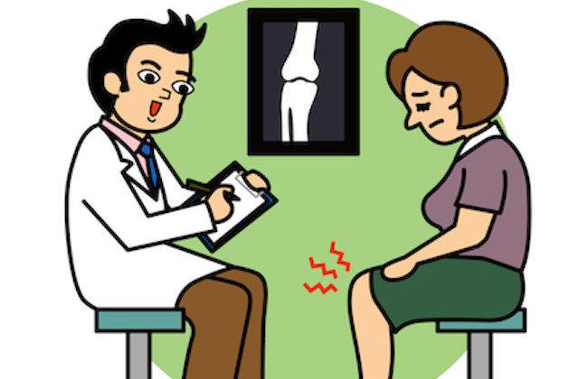 病院での膝の診察